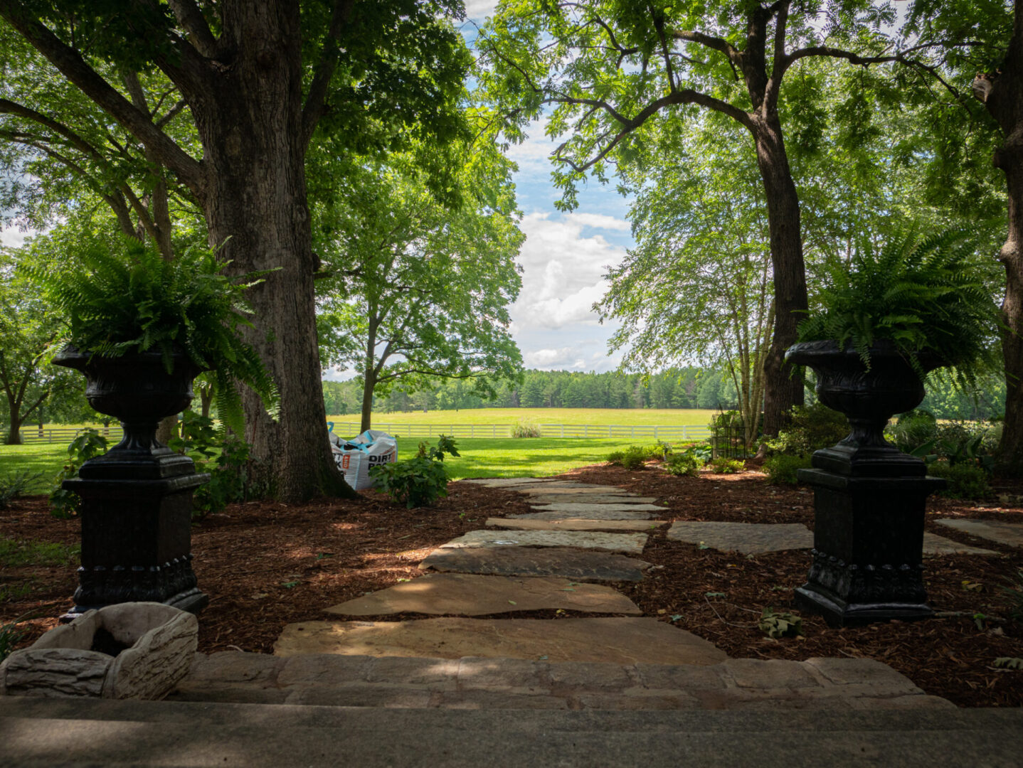 Gorgeous view overlooking open fields at Serenata Farm in Madison, GA