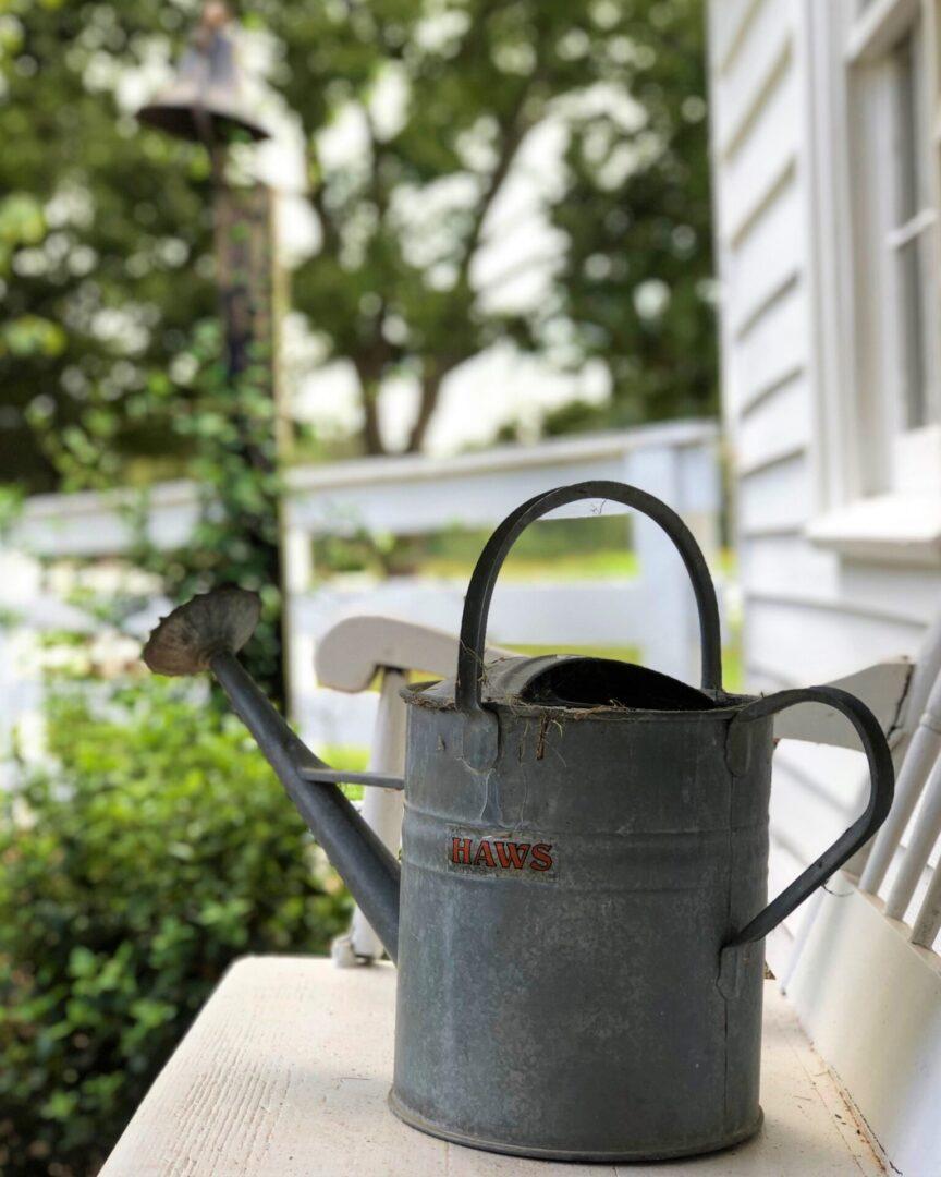 31. Tin watering can at Serenata Farm in Madison, GA